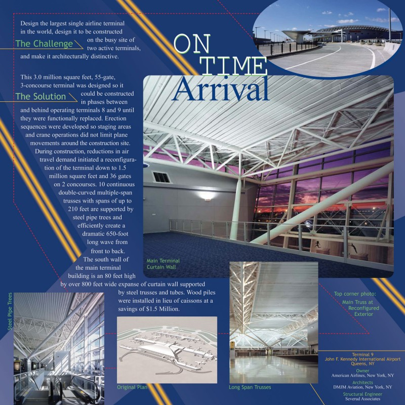 best design firms nyc engineering news record JFK Airport American Airlines Terminal, Queens, NY